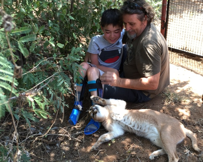 Antoine, Alfie, and a tame orphan civet