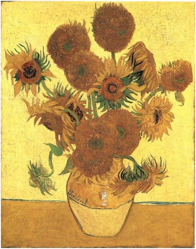 Still-Life_-Vase-with-Fifteen-Sunflowers